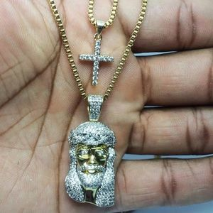 Other - ICEY Jesus Cross Gold Combo Chains Set BRAND NEW